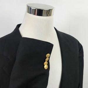 Chaps Ralph Lauren Mens 52L Blazer 100% Wool Black